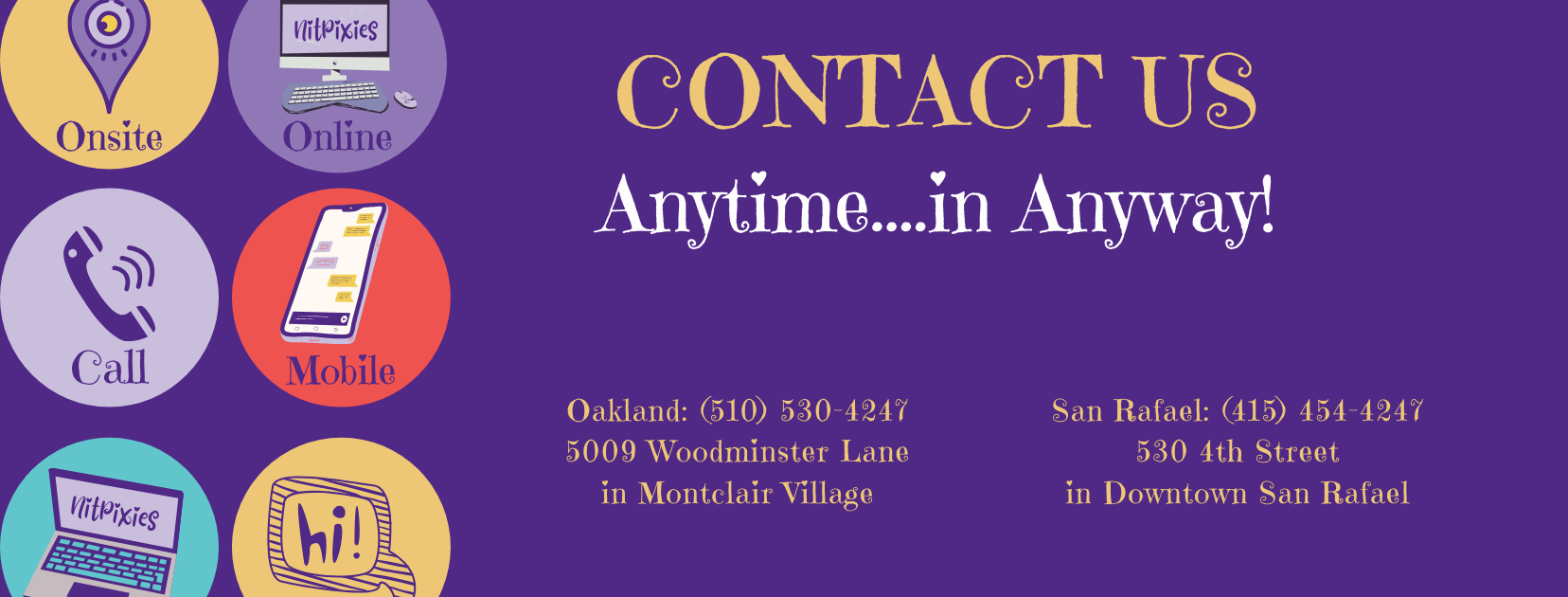 Contact Nit and Lice Removal Oakland and San Rafael